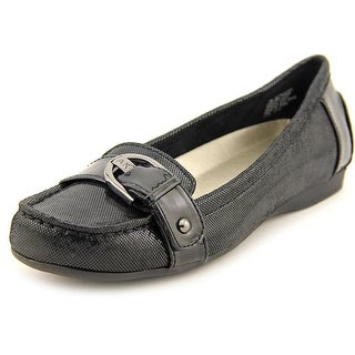 Anne Klein Placida Women Round Toe Leather Flats