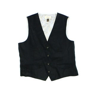 Tasso Elba NEW Black Mens Size XL Classic Fit Four-Button Dress Vest