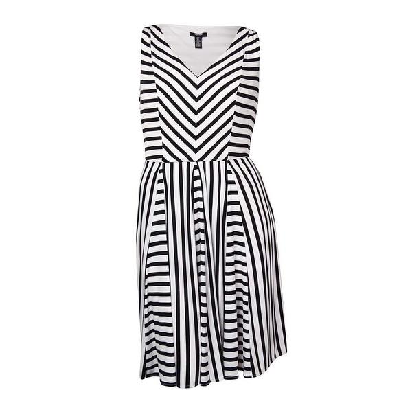 Black Striped Jersey Dress