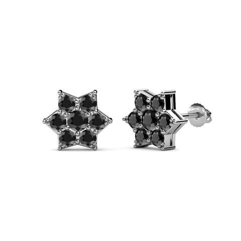 TriJewels Round Diamond Inside-Out Womens Hoop Earrings 14K Gold