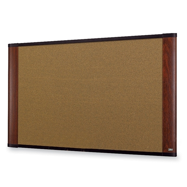 3M Mobile Interactive Solution C4836my Cork Board 48 In X 36 In Mahogany Frame