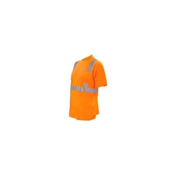Cordova spv410l cor-brite short sleeve pocket t-shirt with reflective tape orange large