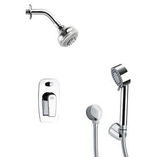 Remer by Nameeks SFH6199 Orsino 2.5 GPM Round Multi Function Shower Head with Ha