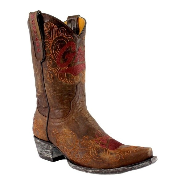 Gameday Boots Womens Montana Distressed Leather Snip Toe