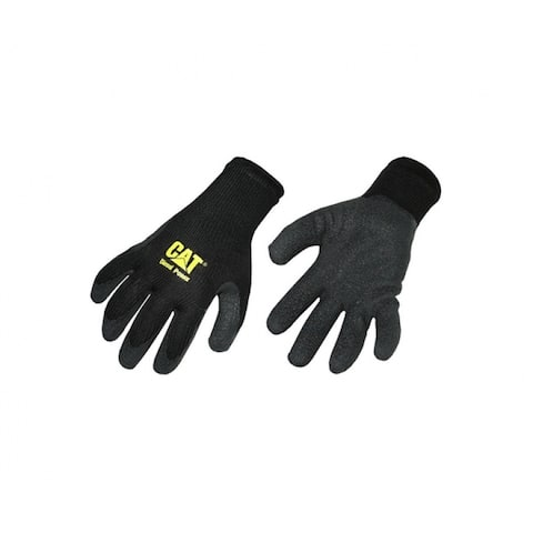 Cat CAT012215/CAT017400J Men's Jumbo Utility Work Gloves, Leather And Synthetic, Yellow/Black