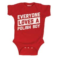 Everyone Loves A Polish Boy Dyngus Day Holiday Celebration Infant Baby One Piece