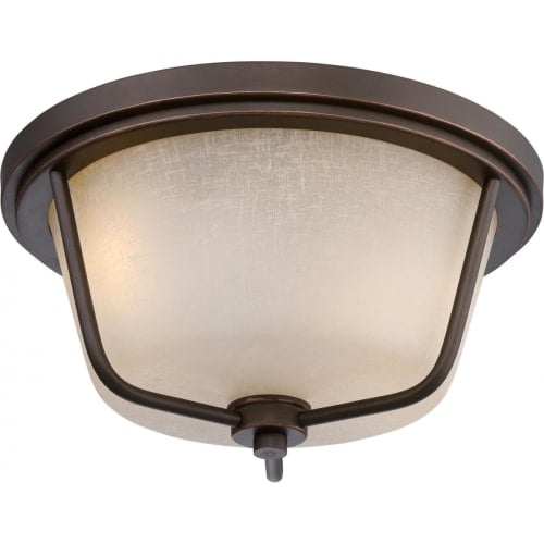 Nuvo Lighting 62/683 Tolland 2 Light LED Outdoor Flush Mount Ceiling Fixture - 13 Inches Wide