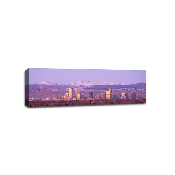 Denver - Cityscapes - 36x12 Gallery Wrapped Canvas Wall Art