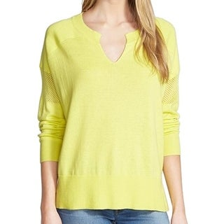 Two By Vince Camuto NEW Yellow Women's Size Large L V-Neck Sweater