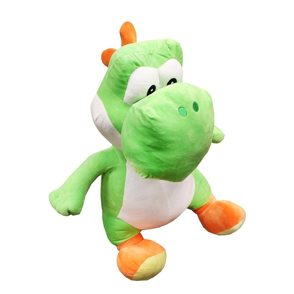 Large Super Mario Bros Green Yoshi Plush Doll Soft Stuffed Animal Pillow Kid Toy