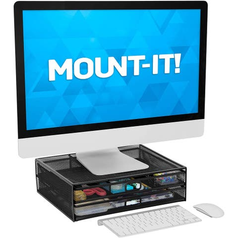 Mount-It! Mesh Computer Monitor Stand Riser