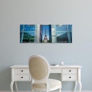 Easy Art Prints Panoramic Images's 'Eiffel Tower Paris France' Premium Canvas Art