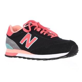 New Balance WL515 Modern Classic Pack Running Shoes - Black/Pink/Blue