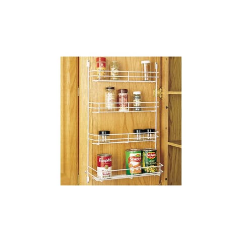"Rev-A-Shelf 565-10-52 565 Series 10"" Width Door Mount Spice Rack - White"