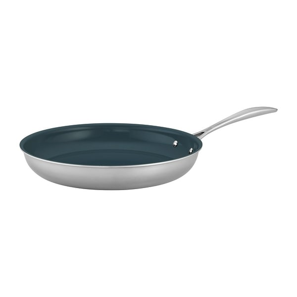 ZWILLING Clad CFX Stainless Steel Ceramic Nonstick Fry Pan. Opens flyout.