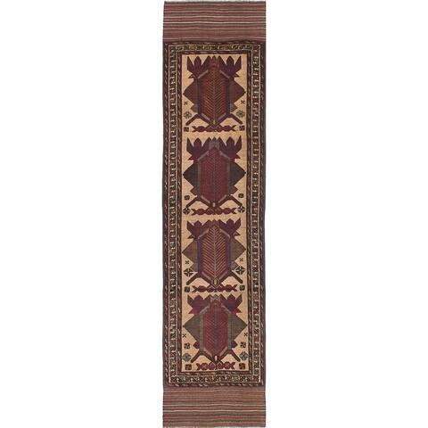 "ECARPETGALLERY Hand-knotted Ghafkazi Red Wool Rug - 2'10"" x 12'0"" Runner"