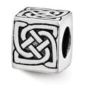 Sterling Silver Reflections Celtic Block Bead (4mm Diameter Hole) - Thumbnail 0