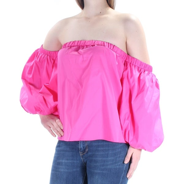INC Womens Pink Long Sleeve Off Shoulder Top Size: XS