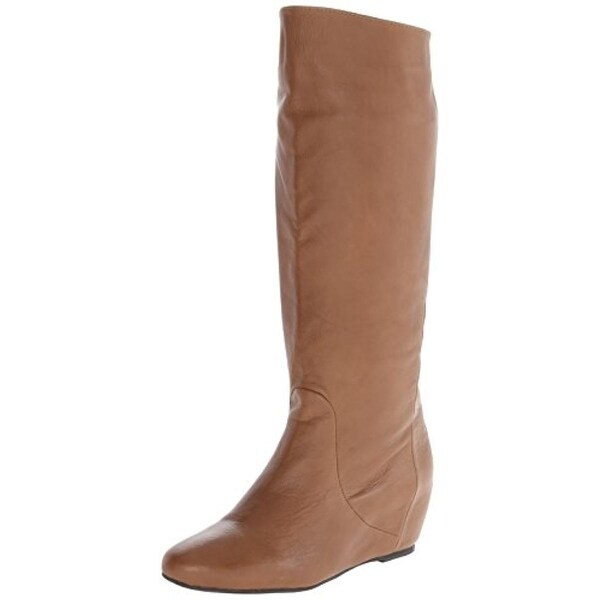 Mojo Moxy Womens Grimm Wedge Boots Leather Mid-Calf