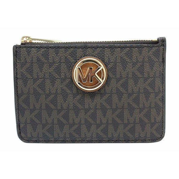 00617d35de82 Shop Michael Kors Fulton Small Top Zip Coinpouch With ID, Brown ...
