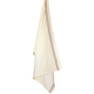 "Red Stripe - Cream Vintage Towel 20""X28"""