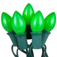 Wintergreen Lighting 67234 25 C7 5W Holiday Bulbs on Green Wire