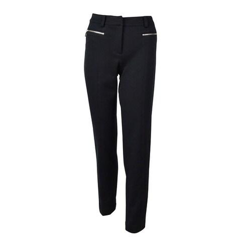 Jones New York Women's Twill Zip Pocket Dress Pants - Navy - 4