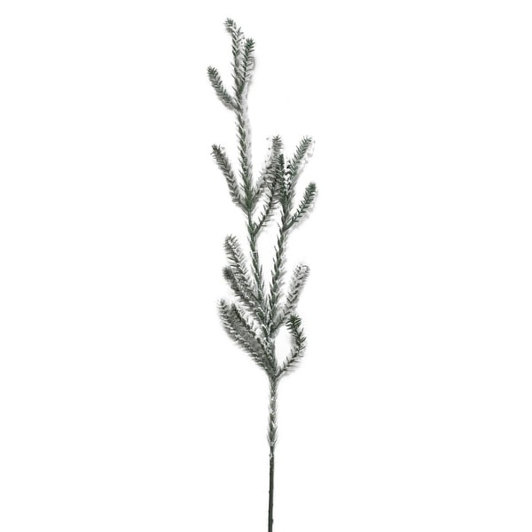 "30"" Sparkling Snow Flocked Artificial Pine Christmas Branch Spray"