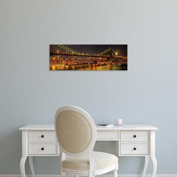 Easy Art Prints Natalie Mikaels's 'Three Bridges' Premium Canvas Art