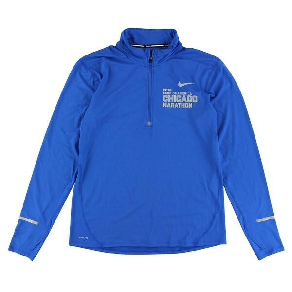 new product bd18d 486bc Nike Mens 2015 Chicago Marathon Element Half Zip Shirt Royal Blue - Royal  Blue Grey