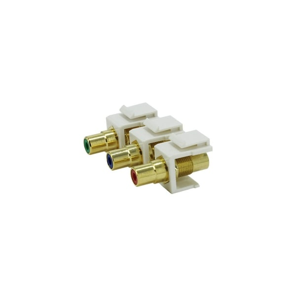 Sewell Component RCA Keystone Jacks (2 Red, 2 Green, 2 Blue)