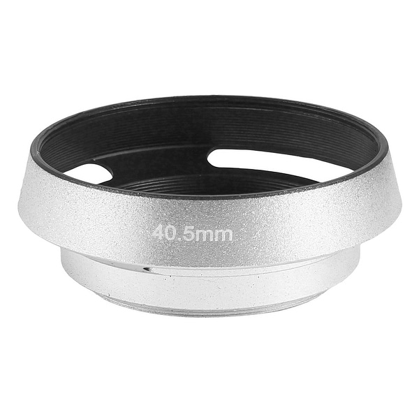 Unique Bargains 40.5mm Thread Metal Screw-in Mount Vented Lens Hood Cover Shade Silver Tone
