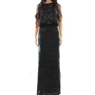 Lauren Ralph Lauren NEW Black Sequined Women's Size 4 Blouson Gown