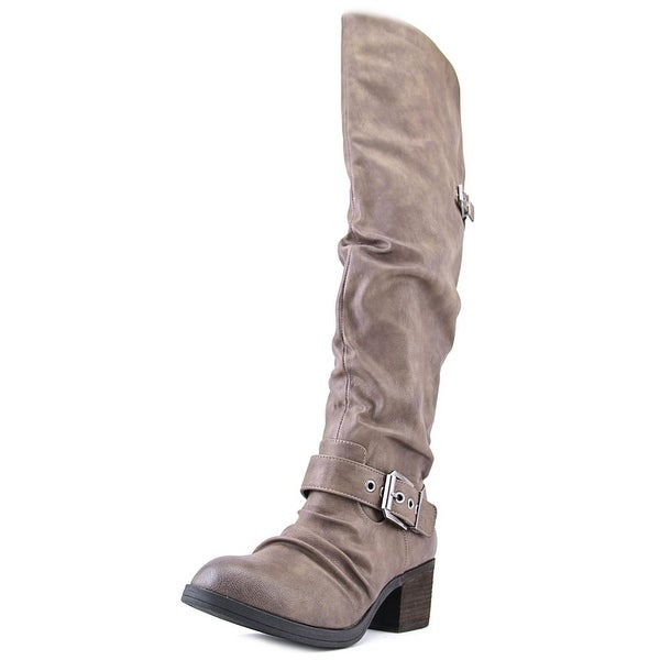 Carlos by Carlos Santana Emily Women Round Toe Synthetic Gray Over the Knee Boot