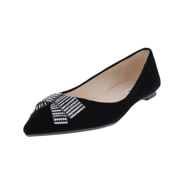 2f32dfe904 Shop Karl Lagerfeld Paris Womens Pointy-Toe Flats Embellished ...