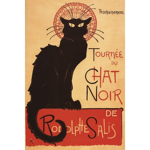 Chat Noir Cabaret Troupe Black Cat - Vintage Ad (100% Cotton Towel Absorbent)