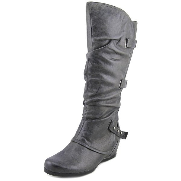 Baretraps Quibella Women Round Toe Synthetic Gray Knee High Boot