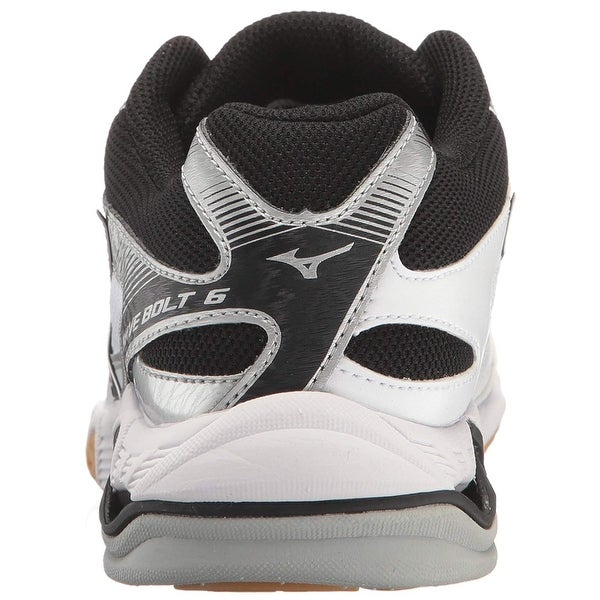 White /& Black Mizuno Womens Wave Bolt 6 Volleyball Shoes