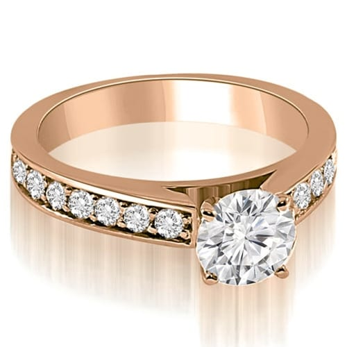 1.65 cttw. 14K Rose Gold Round Cut Diamond Engagement Ring