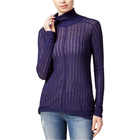 Lucky Brand Womens Hi-Lo Turtleneck Knit Sweater