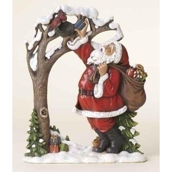 "9.75"" Joseph's Studio Santa Claus with Birds Christmas Wafer Decoration"