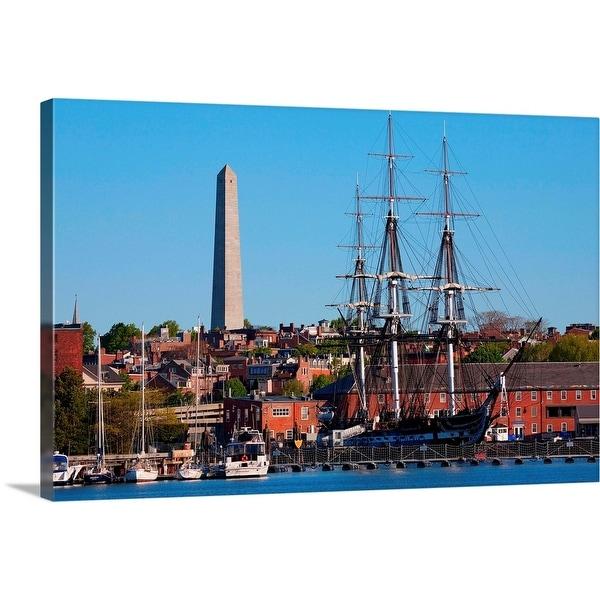 """USS Constitution historic ship, Freedom Trail, Charlestown, Boston, MA"" Canvas Wall Art"