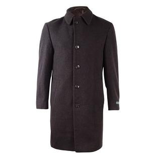 Lauren Ralph Lauren Men's Wool Cashmere Buttoned Coat (40R, Dark Brown) - 40r