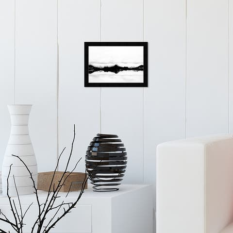 Oliver Gal 'Stood Still Black' Nature and Landscape Framed Wall Art Prints Mountains - Black, White