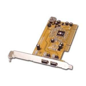 """SIIG NN-440012-S8 SIIG 3 Port 1394 PCI i/e Adapter - 2 x 6-pin IEEE 1394a FireWire External, 1 x 6-pin IEEE 1394a FireWire"