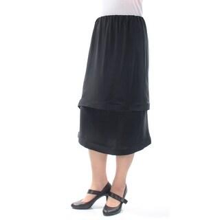 LANVIN Womens Black Midi Layered Skirt  Size: M
