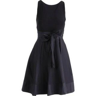 Lauren Ralph Lauren Womens Petites Pleated Sleeveless Cocktail Dress - 10P