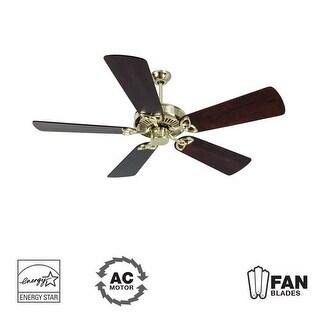 "Craftmade K10977 CXL 54"" 5 Blade Energy Star Indoor Ceiling Fan - Blades Included - polished brass"