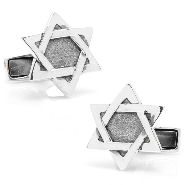 Sterling Star of David Cufflinks