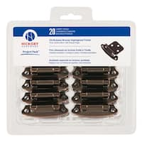 Hickory Hardware VP244  Surface Self-Closing Steel Flush Hinge (20 Pack) from the Project Packs Collection -
